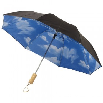 "21"" Blue skies 2-section automatic umbrella"