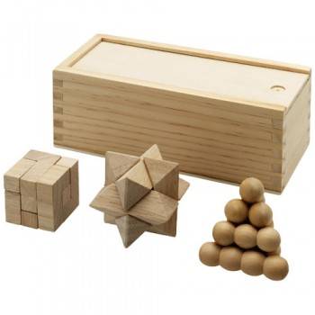 Brainiac 3 piece wooden brainteasers