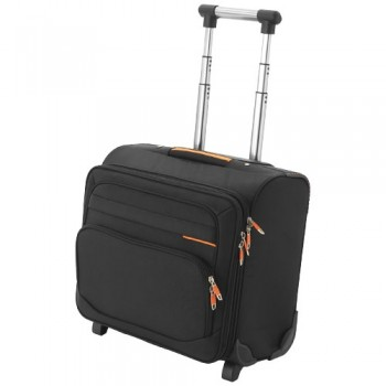 Orange line business bag on wheels