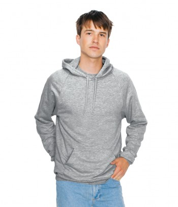 American Apparel Unisex California Raglan Hooded Sweatshirt