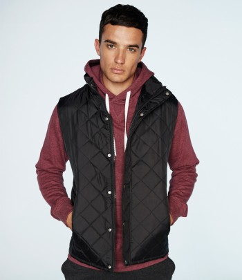 Front Row Diamond Quilted Gilet