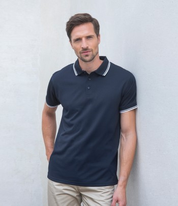 Henbury Coolplus® Tipped Polo Shirt