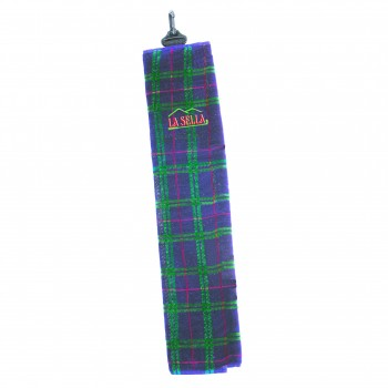 Velour Check Golf Towel