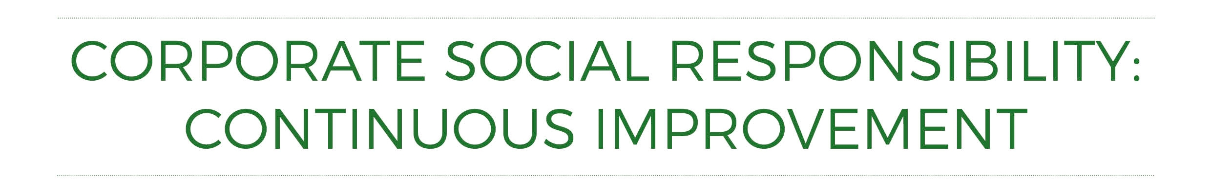 CSR Continuous Improvement