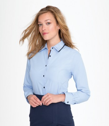 SOL'S Ladies Baxter Long Sleeve Contrast Fitted Shirt