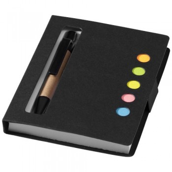Reveal sticky notes book and pen