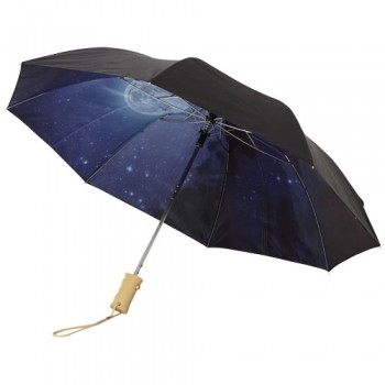 """21"""" Clear night sky 2-section automatic umbrella"""