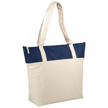 12018303   Jute and Cotton Zippered Tote