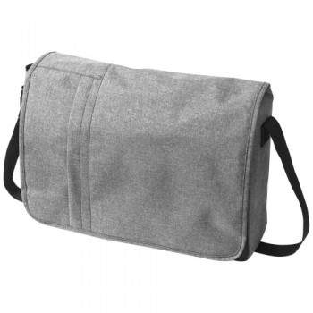 "Heathered 15.6"" Computer Messenger Bag"