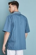 Men's Healthcare Tunic, Turquoise With White Trim