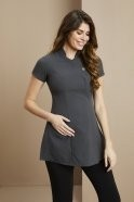 FD3820  One Button Maternity Beauty Tunic, Graphite