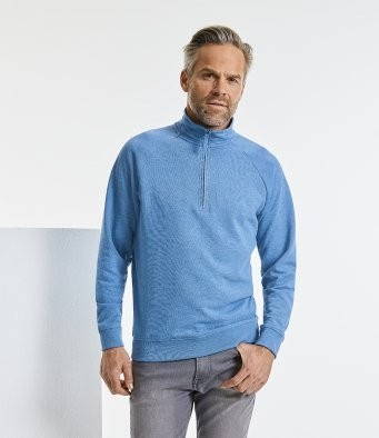 282M Russell HD Zip Neck Sweatshirt