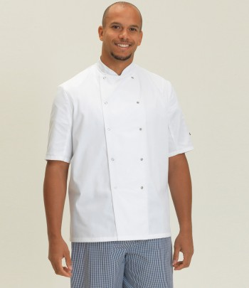 Dennys Short Sleeve Press Stud Chef's Jacket
