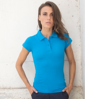 Henbury Ladies Modern Fit Cotton Piqué Polo Shirt