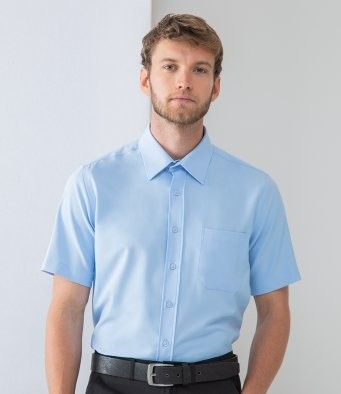 H595 Henbury Short Sleeve Wicking Shirt