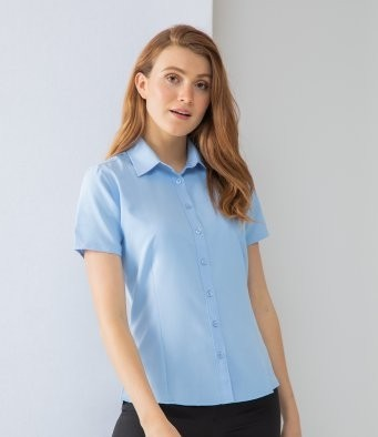 H596 Henbury Ladies Short Sleeve Wicking Shirt