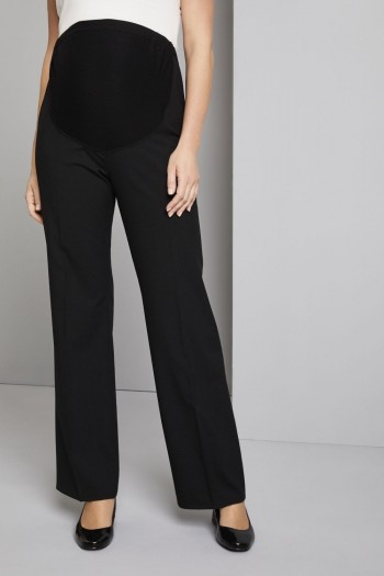 FT1710   Maternity Parallel Trousers, Black