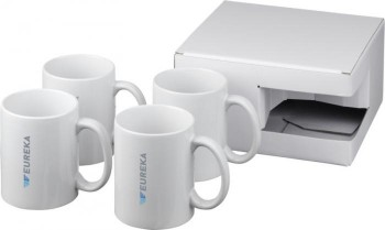 Ceramic mug 4-pieces gift set