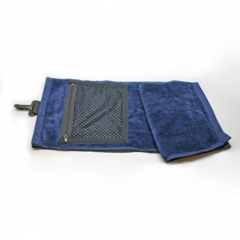 Velour Golf Towel with Mesh Pocket
