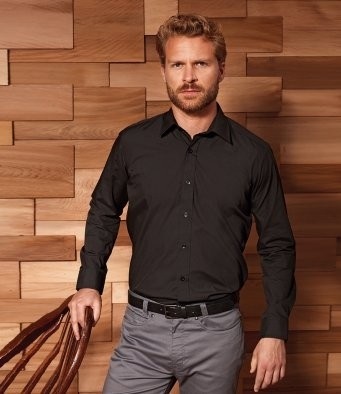 PR204 Premier Long Sleeve Fitted Poplin Shirt
