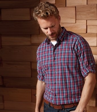 PR256 Premier Sidehill Check Long Sleeve Shirt