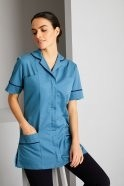 Essentials Women's Healthcare Tunic, Turquoise With Navy