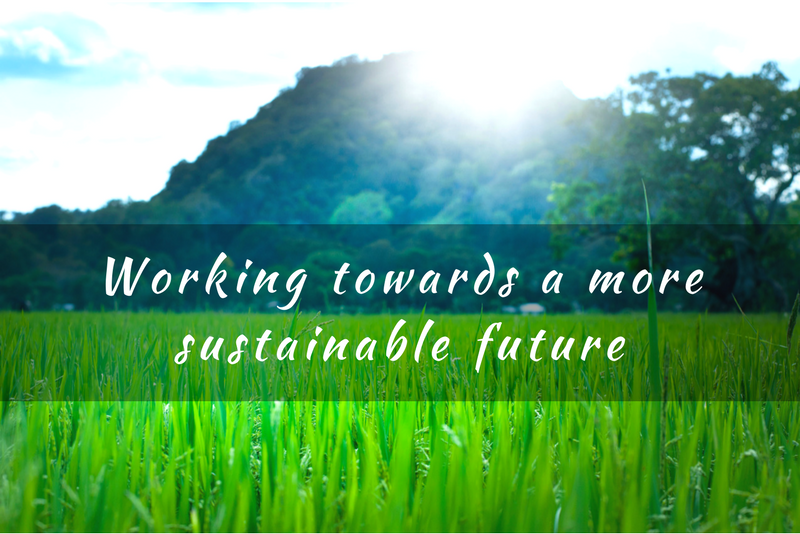 Working towards a more sustainable future